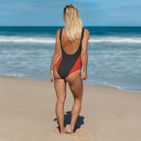 Red Orange One-Piece Swimsuit