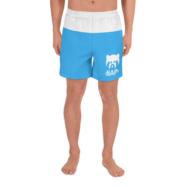 Blue Men's Athletic Long Shorts