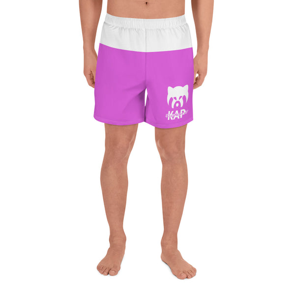 Pink Men's Athletic Long Shorts