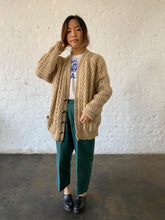 Vintage Irish Wool Fisherman Cardigan