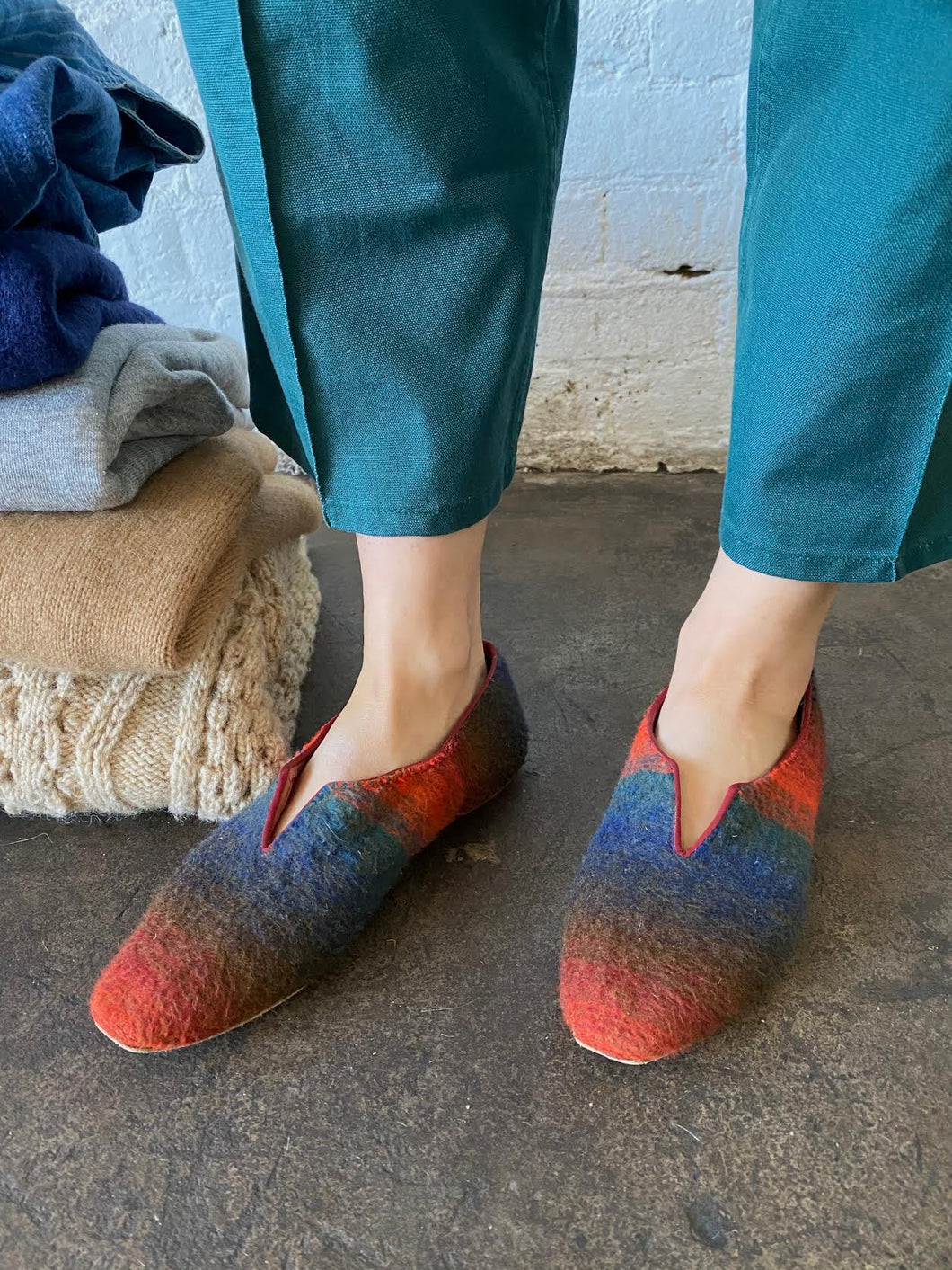 Vintage Capezio Felted Wool Flats