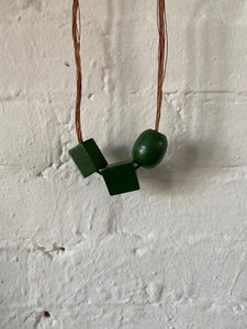 Vintage Toy Block Necklace #3