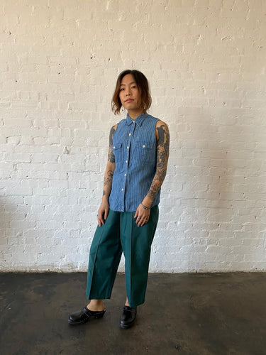 1990's Lauren Sleeveless Button Up