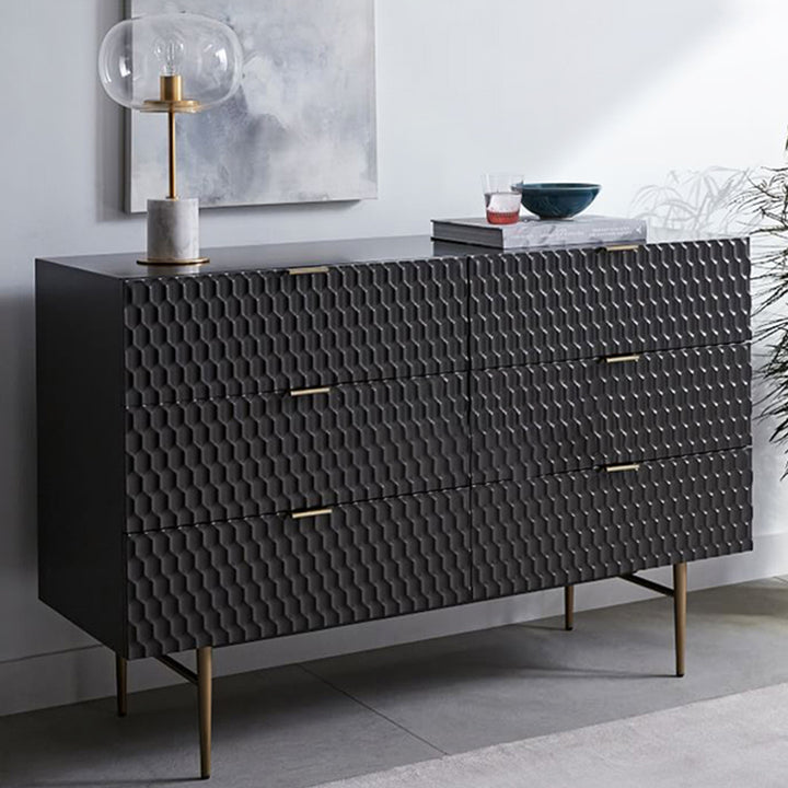 Agna chest of drawers - black