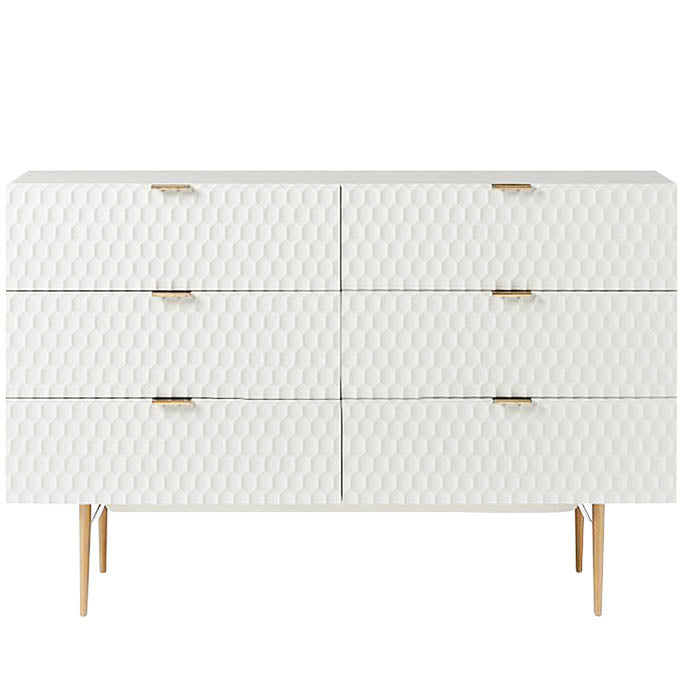 Agna chest of drawers - white