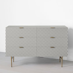 Agna chest of drawers - grey