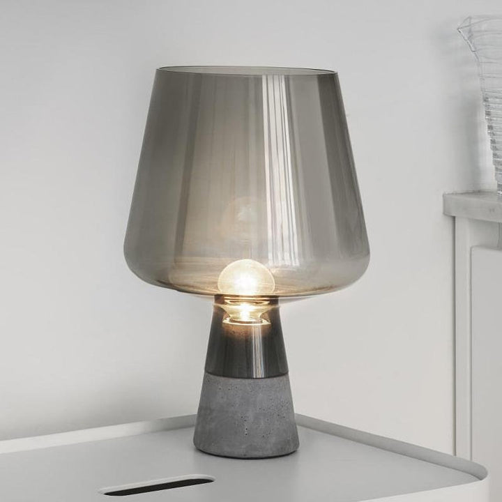Edel table lamp - smoke grey