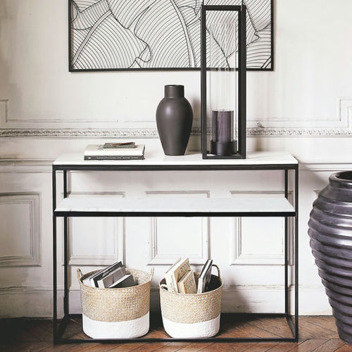 Emmerson marble console table