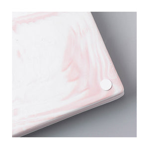 Hallie pink marble tray - rectangle