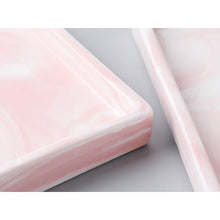 Hallie pink marble tray - Hexagon
