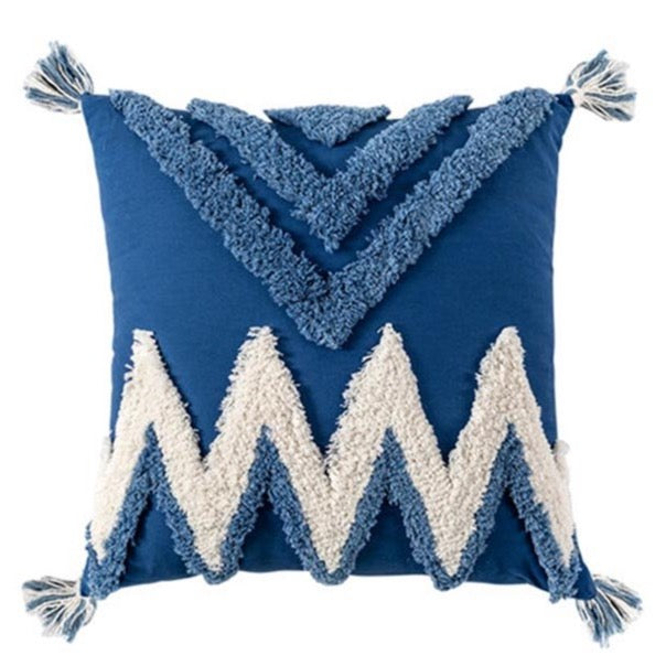 Tufted cushion - Zig zag