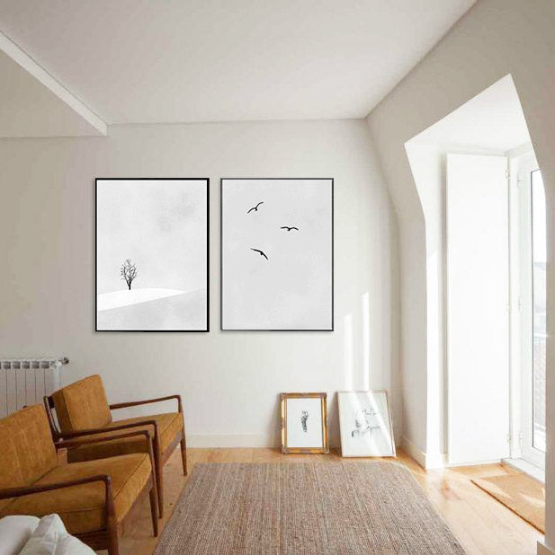 Minimalist nature wall art set