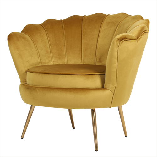 Quenby lounge chair - Mustard yellow