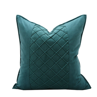 Pieced cushion - Emerald green