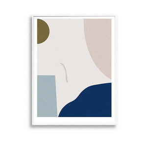 Abstract nature - Blue wall art