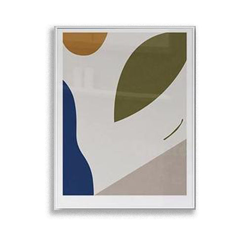 Abstract nature - Olive wall art