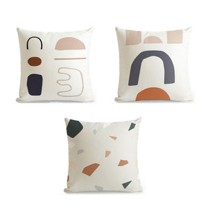 Abstract cushion set of 3