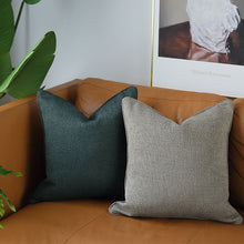 Cotton canvas cushion - Dark grey
