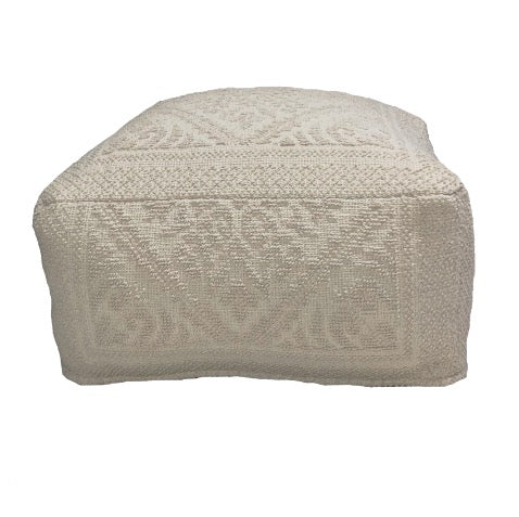 Damask Square Pouf