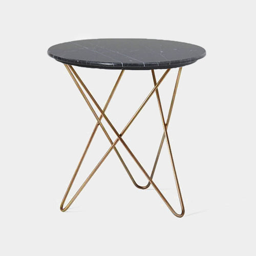 Dalton marble side table - black