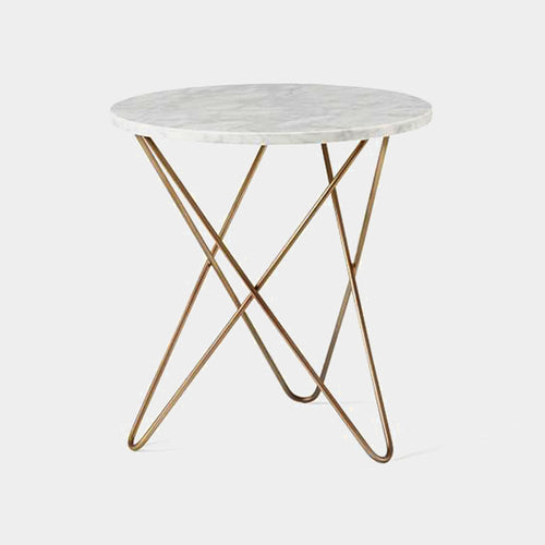 Dalton marble side table - white