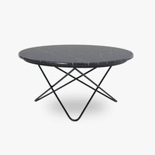 Denby marble coffee table - black