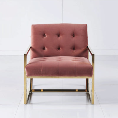 Haverhill lounge chair - Dusty rose