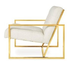 Haverhill lounge chair - Cream linen