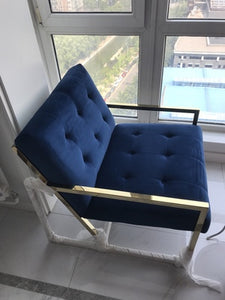 Haverhill lounge chair - Rich blue
