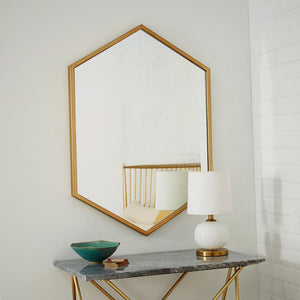 Hex mirror - gold