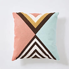 Embroidery cushion - Multi pastel