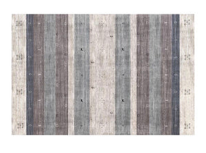 Muted stripe rug - brown (size customisable)