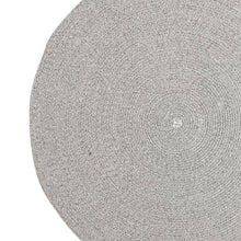 Woven grey round rug - heather grey (size customisable)