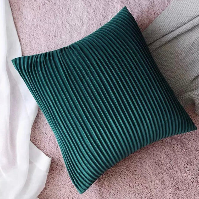 Pleats please cushion - jade