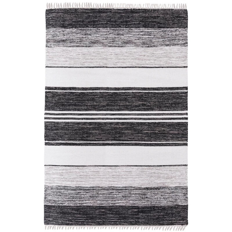 Stripes rug - black