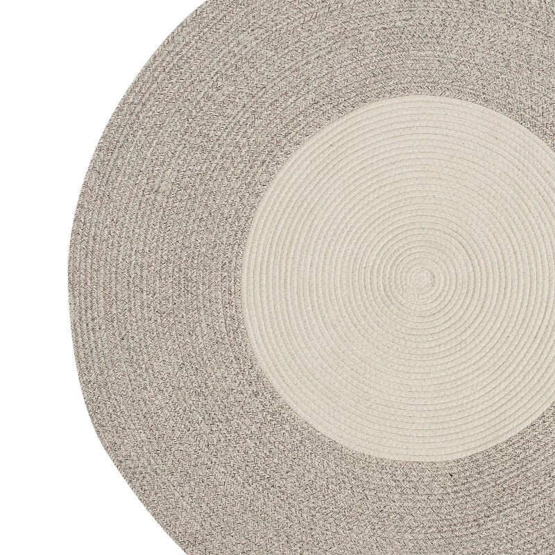 Woven round rug - two tone (size customisable)
