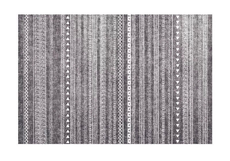 Modern stripe rug - dark (size customisable)