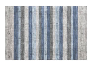 Muted stripe rug - blue (size customisable)