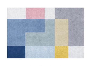Colourblock rug - seven (size customisable)