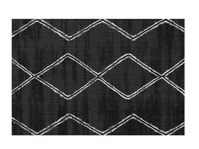 Modern Nordic rug - black (size customisable)