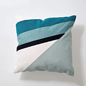 Embroidery cushion - Blue graphic