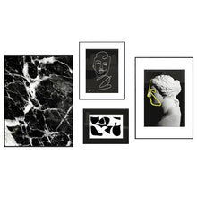 Contemporary monochrome wall art set