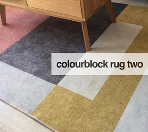 Colourblock rug - two (size customisable)