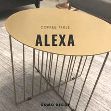 Alexa coffee table - gold
