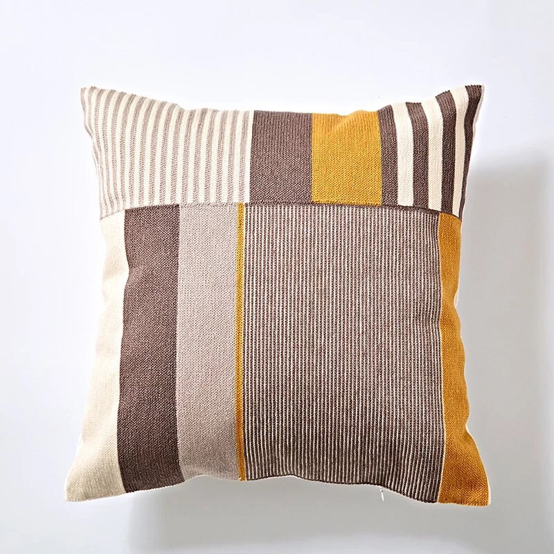 Embroidery cushion - Yellow multi