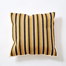 Embroidery cushion - Yellow stripes