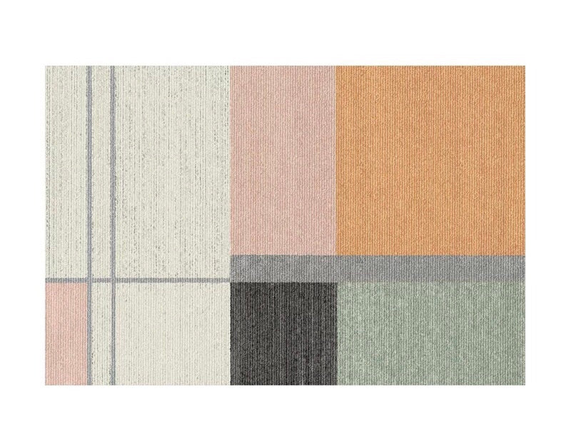 Colourblock rug - five (size customisable)