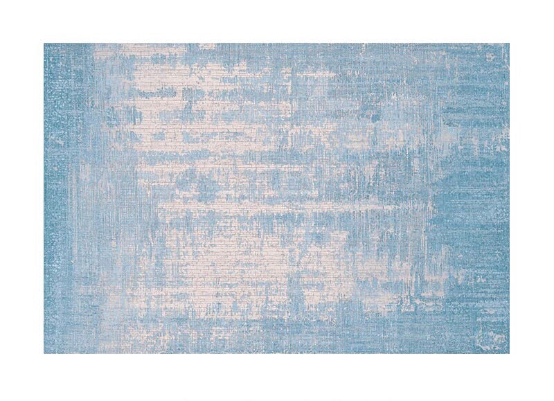 Textured blue rug (size customisable)