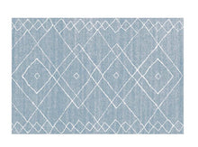 Modern Nordic rug - blue (size customisable)