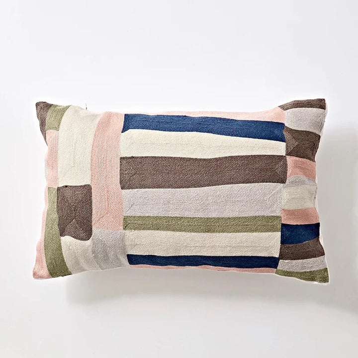 Embroidery cushion - Pink multi